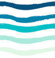 blue seamless wave pattern linear design on white vector image