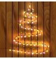 Christmas tree made of christmas lights vector image