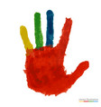 close up of colored hand vector image