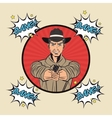 Cowboy man cartoon design vector image