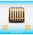Icon open vector image