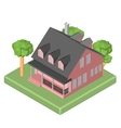 Isometric 3D icon Pictograms house with a mailbox vector image