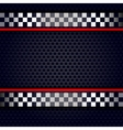 Metallic perforated sheet background for race vector image