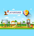 playground park vector image