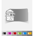 Realistic design element draw-well vector image