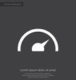 speedometer premium icon vector image