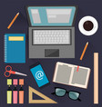 stuff for studying and business useful things for vector image