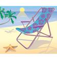 Sunbed on the beach vector image