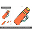 thermos flask line icon vector image