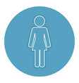 woman silhouette isolated icon vector image