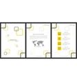 Marketing kit presentation vertical vector image