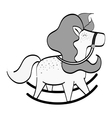 cute horse toy vector image