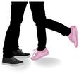 Legs Kissing Lovers vector image