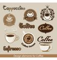 coffee design element vector image