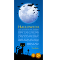 Creepy Halloween scene vector image