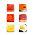 Food app icons set vector image vector image