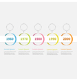 Timeline Infographic colorful hanging circles vector image
