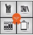Office supplies icon set vector image