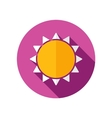 Sun flat icon with long shadow vector image