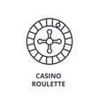 casino roulette line icon outline sign linear vector image