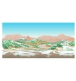 Natural desert landscape valley in early spring vector image
