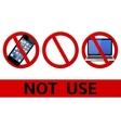 No signs not use simbols vector image