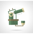 Observatory telescope flat color icon vector image