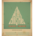 Retro Christmas Greeting Card vector image