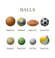 set of sport balls Design elements and vector image