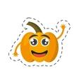 cartoon yellow pepper happy vegetable cut line vector image