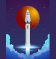 colorful cartoon rocket launch concept vector image
