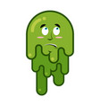 Surprised booger discouraged emotion snot big vector image