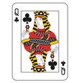 Queen of clubs vector image vector image
