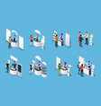 promotional stands isometric set vector image