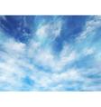 Wispy clouds vector image