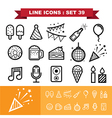 Party line icons set 39 vector image vector image