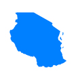 Map of Tanzania vector image vector image