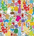 seamless pattern with wardrobe vector image