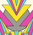Retro 80s geometric pattern background vector image