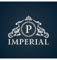 Calligraphic Vintage emblem Imperial art vector image vector image