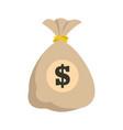 bag money icon flat style vector image