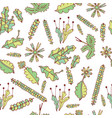 forest moss and leaves seamless pattern vector image