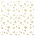 Golden Christmas snowflake EPS 10 vector image