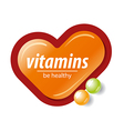 logo orange check mark vitamins vector image