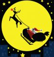 Santa-in-the-moon vector image