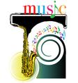 saxophone vector image vector image