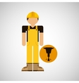 character construction man with jackhammer vector image
