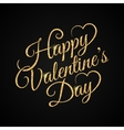 valentine day vintage lettering gold background vector image