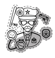 figure policeman with his tools icon image vector image