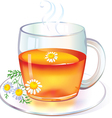 Tea with Chamomile vector image vector image